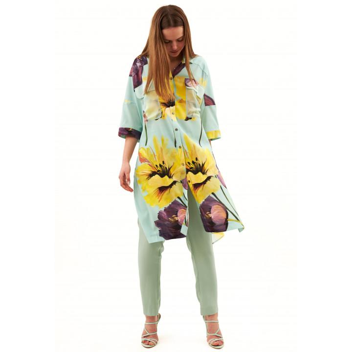 Блуза «Алиса» бирюзового цвета