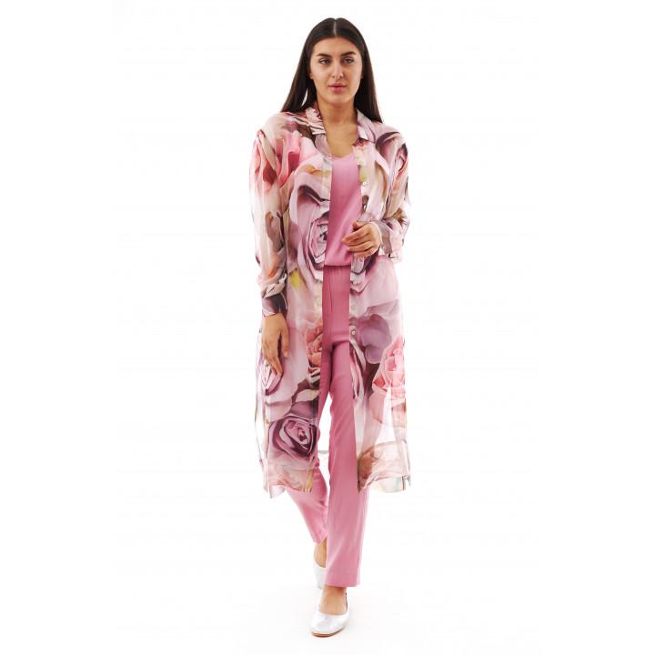 Блуза «Глициния» пудрового цвета