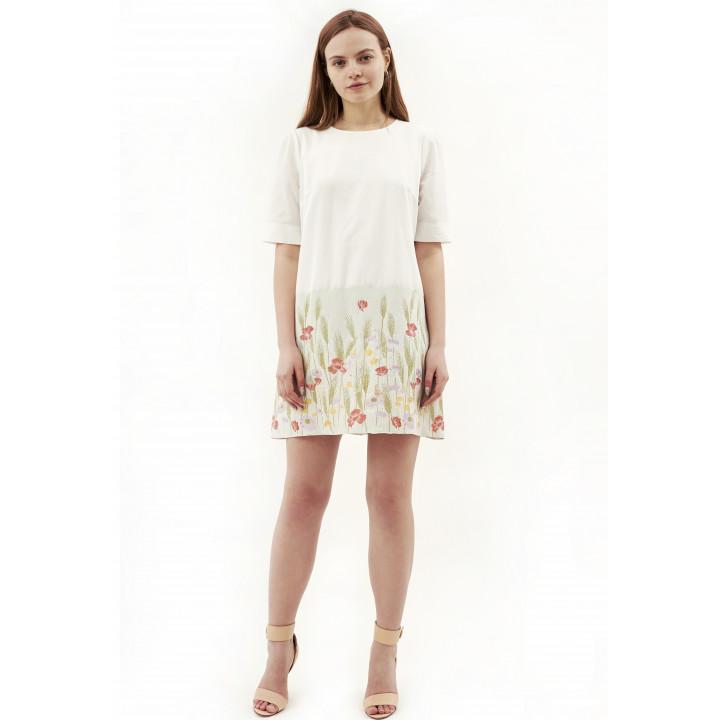 Платье «Эббиль-5» молочного цвета