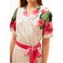 Платье «Карсия» из шелка молочного цвета