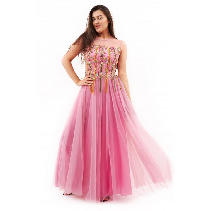 Платье «Верения-1» нежно розового цвета