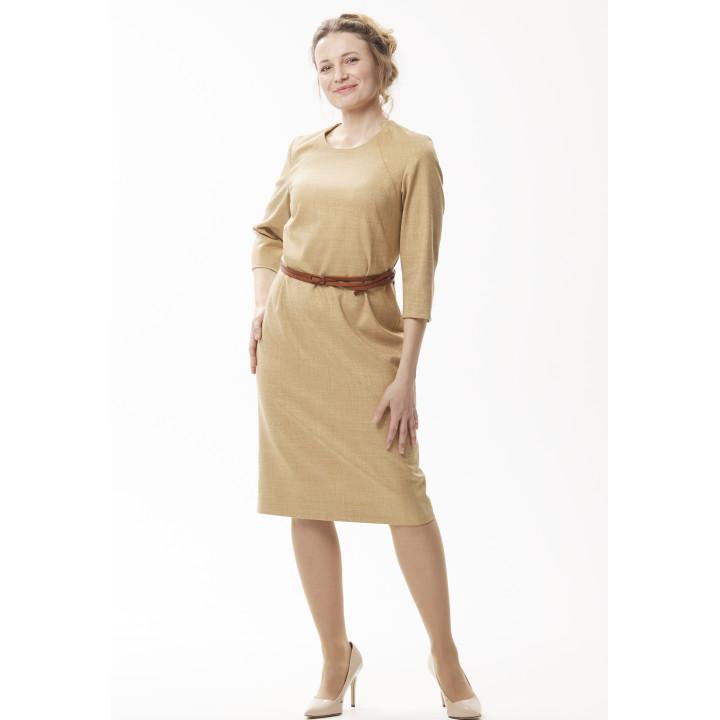 Платье «Линда» золотистого цвета