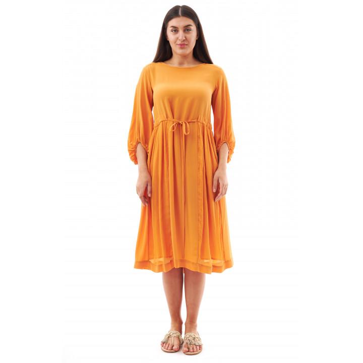 Платье «Рэбекка«» оранжевого цвета