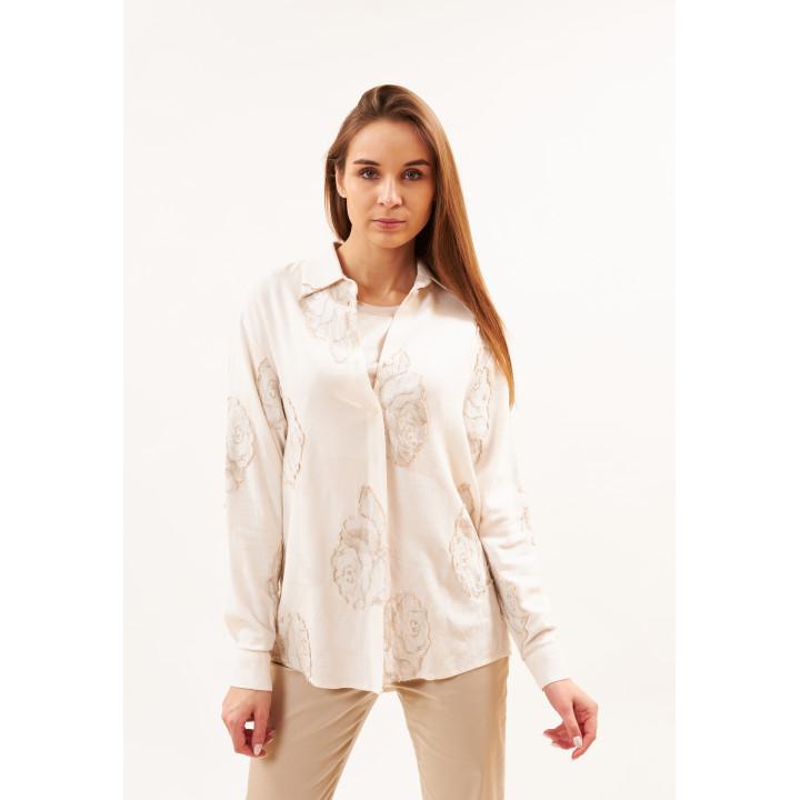 Рубашка «Китти» молочного цвета