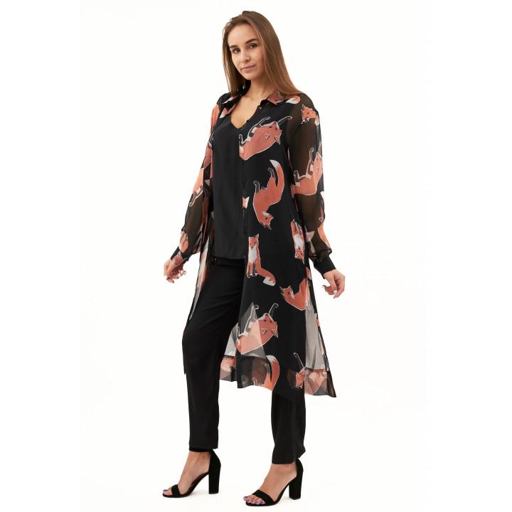 Блуза «Глициния» черного цвета