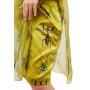 Платье «Елена» зеленого цвета принт насекомые