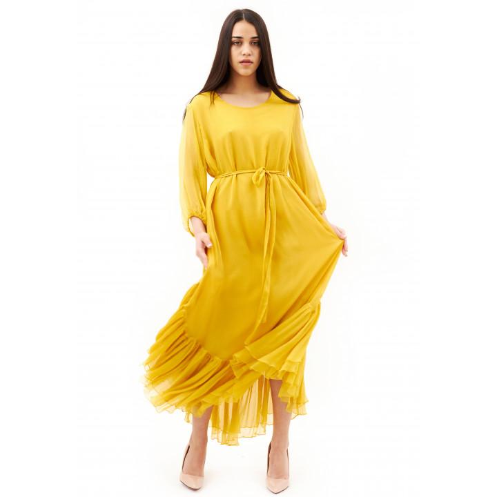Платье «Долли» желтого цвета