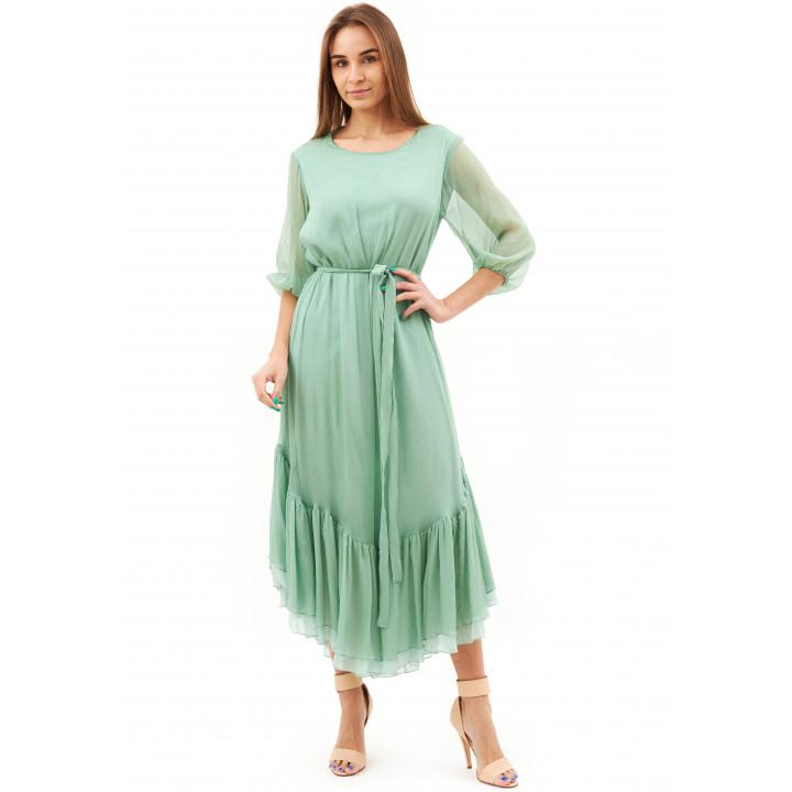 Платье «Долли» бирюзового цвета