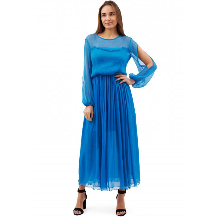 Платье «Хилари» василькового цвета