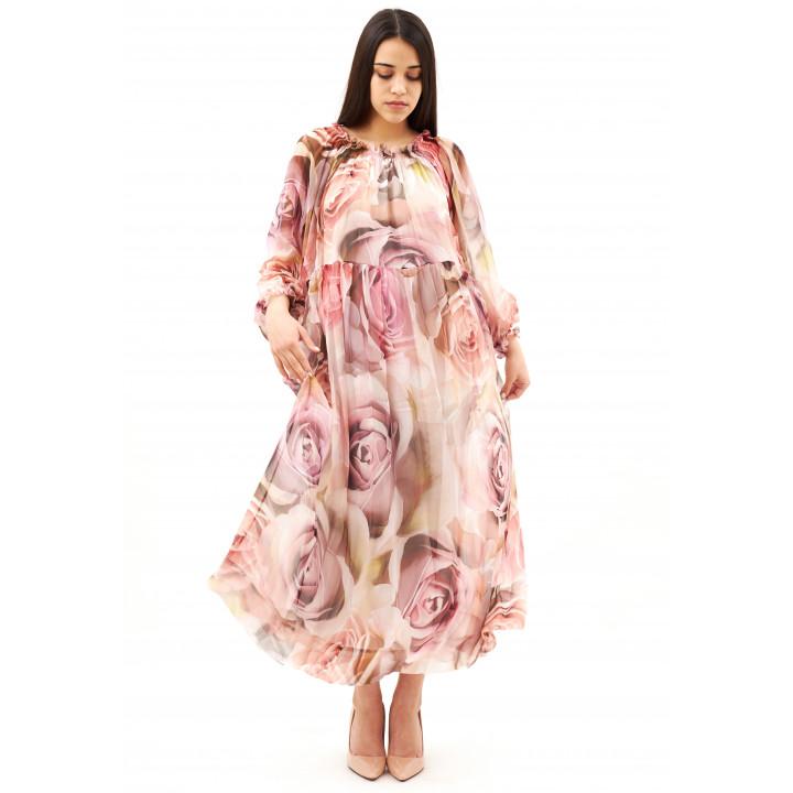Платье «Лусия» пыльно-розового цвета