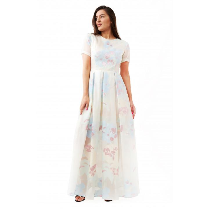 Платье «Виктория» молочного цвета
