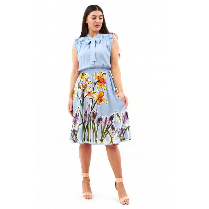 Платье «Камелия» голубого цвета