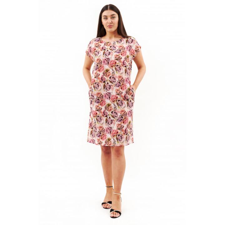 Платье «Елена-1»  пудрового цвета