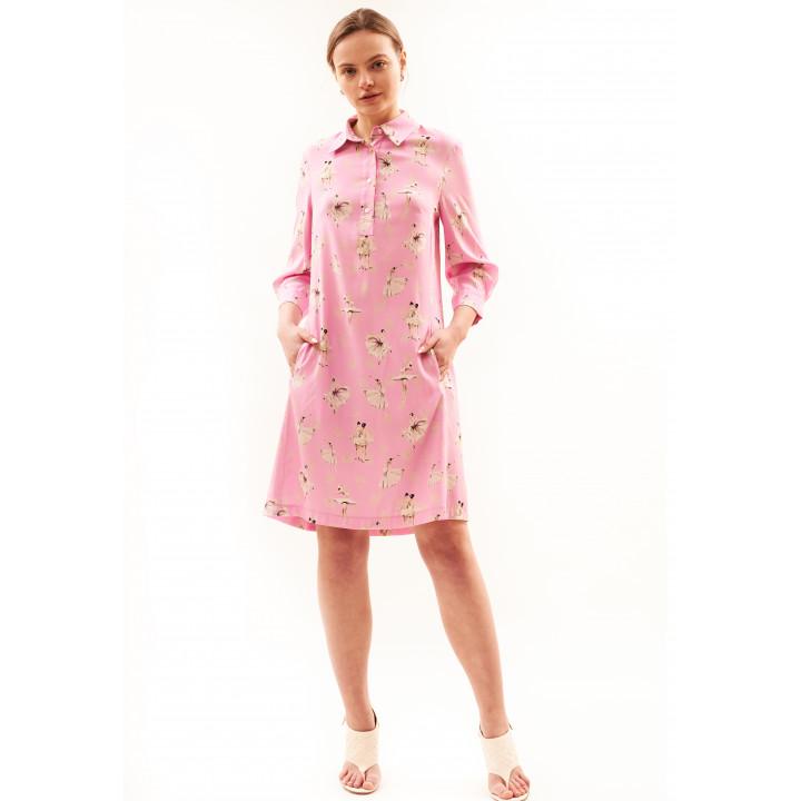 Платье «Павия» розового цвета