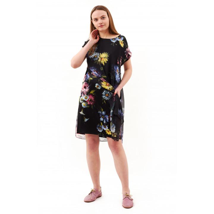 Платье «Елена»  с авторским принтом