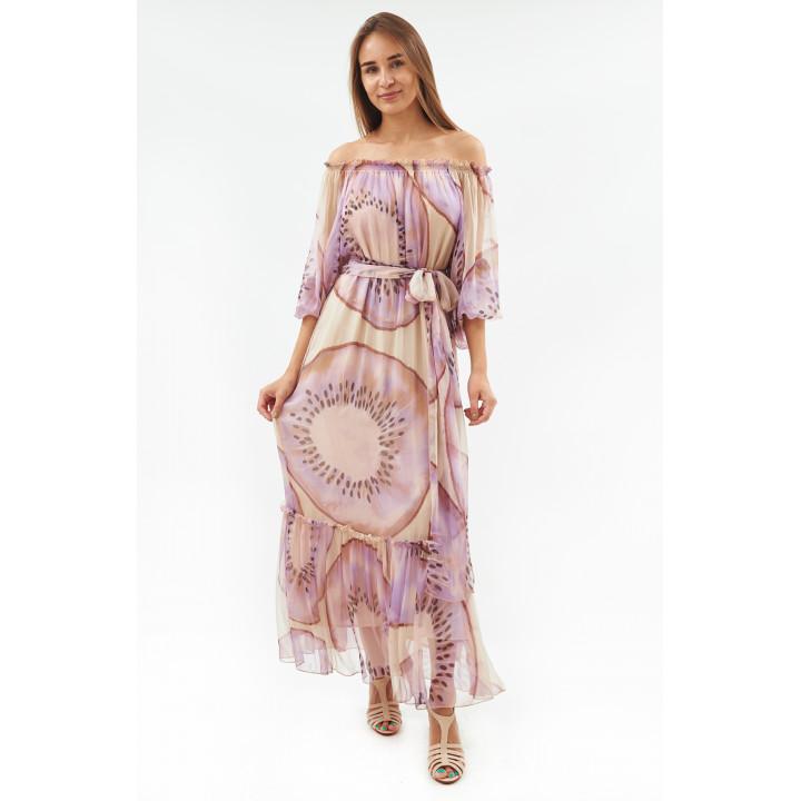 Платье «Летиция» бежевого цвета