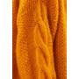 Свитер вязаный оранжевый с королевского мохеру