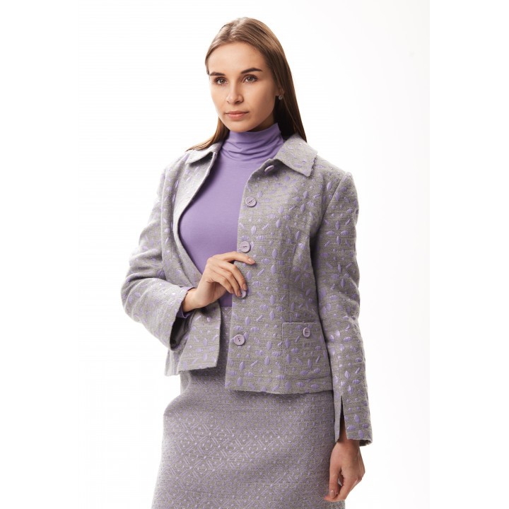 Жакет «Камалия» серо-сиреневого цвета