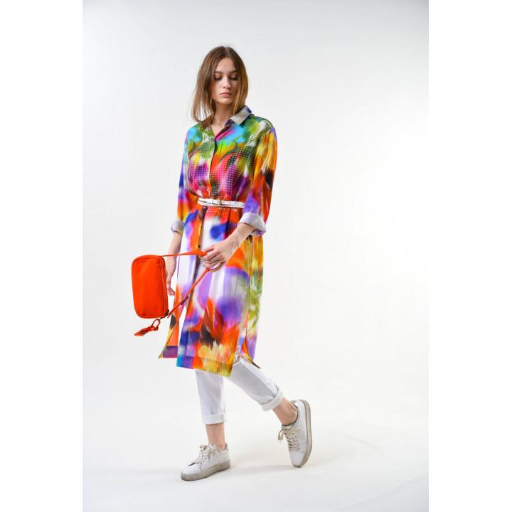Блуза «Глициния» цветочный принт