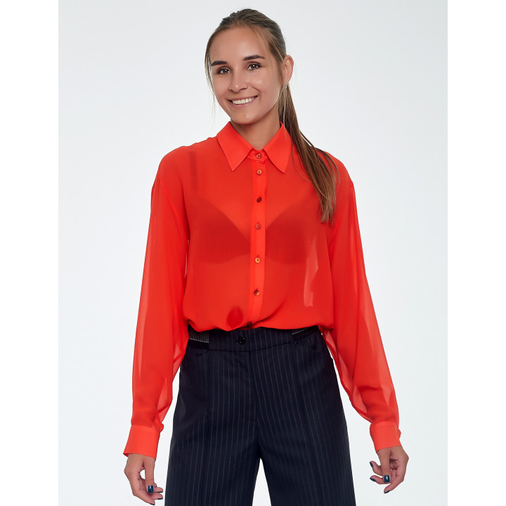 Блуза «Китти» красного цвета