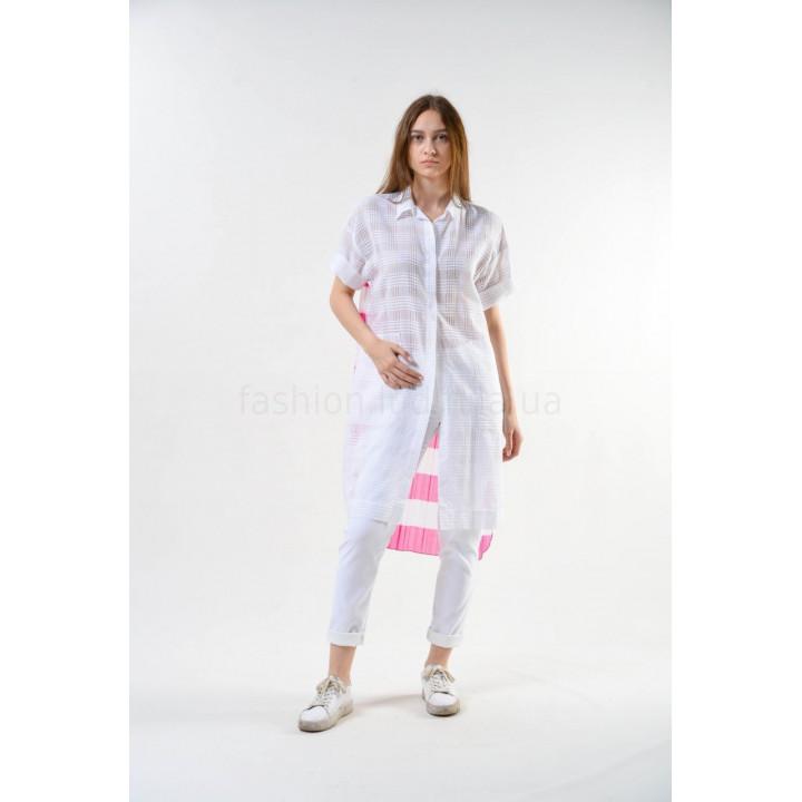 """Рубашка """"Жасмин"""" бело-розового цвета"""