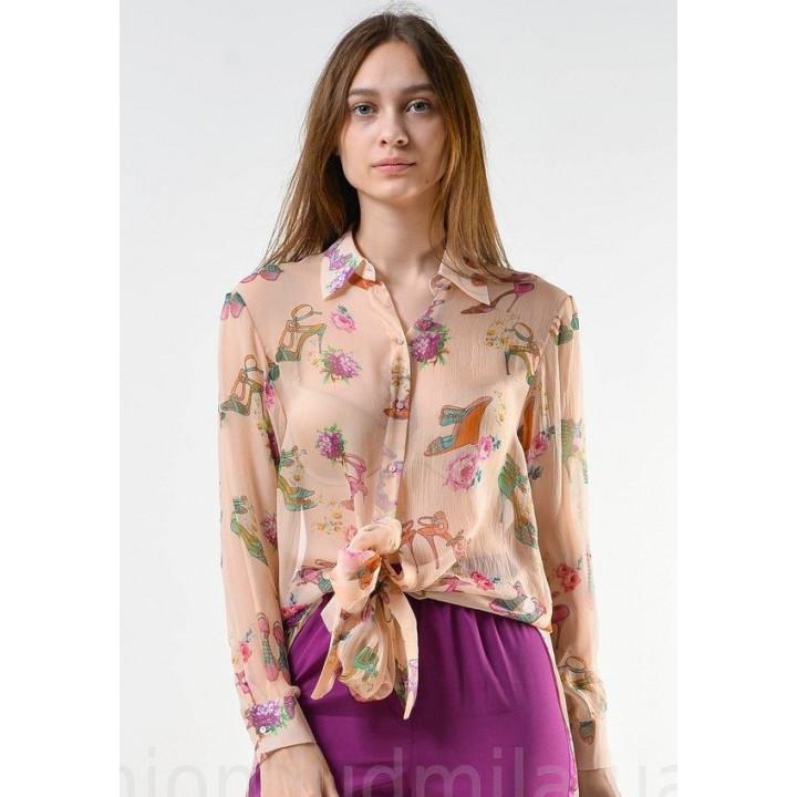 "Блуза ""Китти"" персикового цвета"