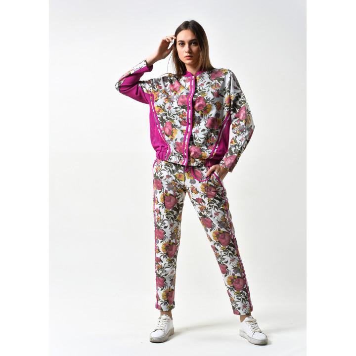 Прогулочный костюм «Спорт» цветочного принта