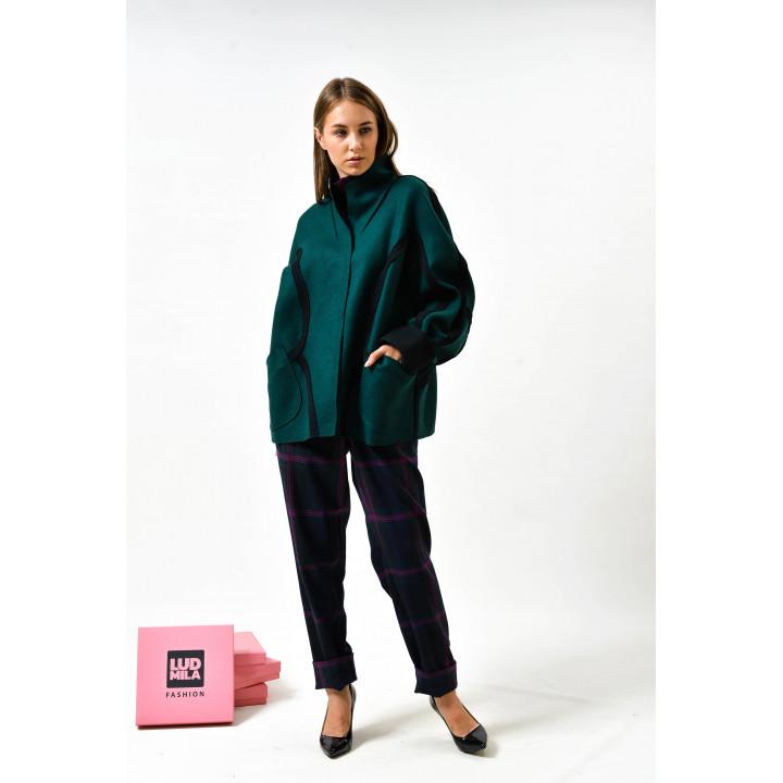 """Куртка """"Кабри"""" зеленого цвета"""