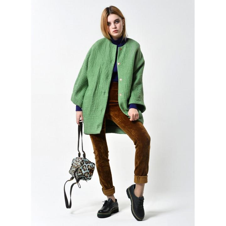 """Куртка """"Алаиз"""" зеленого цвета"""