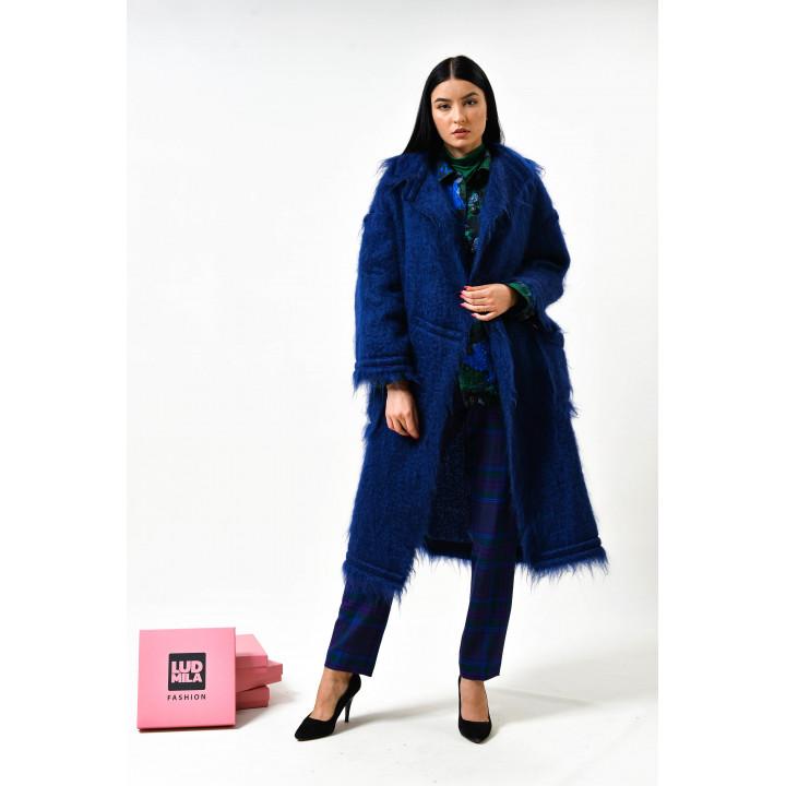 """Пальто """"Беверли"""" синего цвета"""