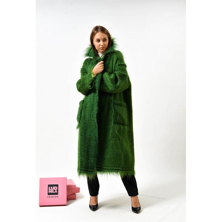 """Пальто """"Беверли"""" зеленого цвета"""