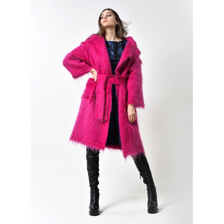 """Пальто """"Барбара"""" малинового цвета"""