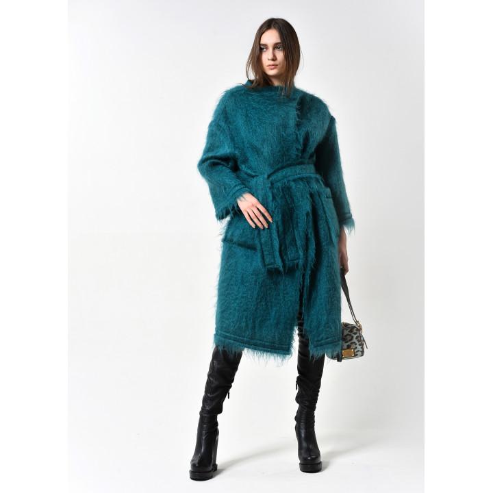 """Пальто """"Барбара"""" изумрудного цвета"""