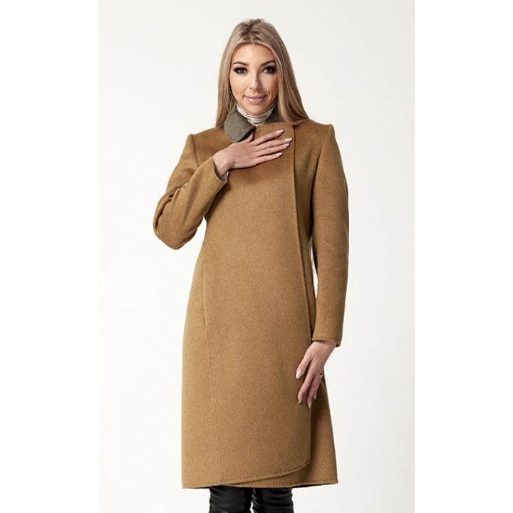 Пальто «Медина» кофейного цвета