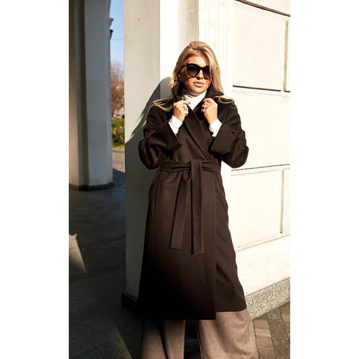 """Пальто """"Медина"""" шоколадного цвета"""