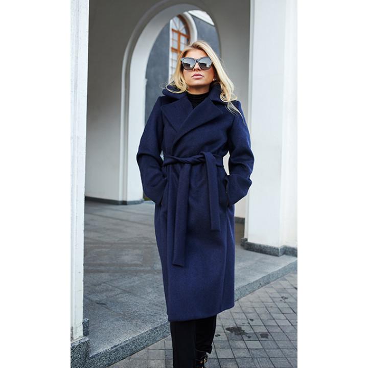 Пальто «Медина» синего цвета