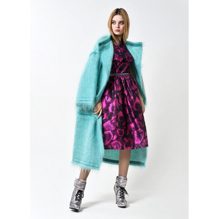"""Пальто """"Барбара"""" бирюзового цвета"""