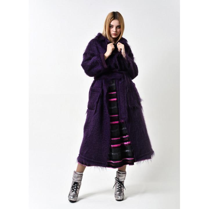 """Пальто """"Беверли"""" фиолетового цвета"""