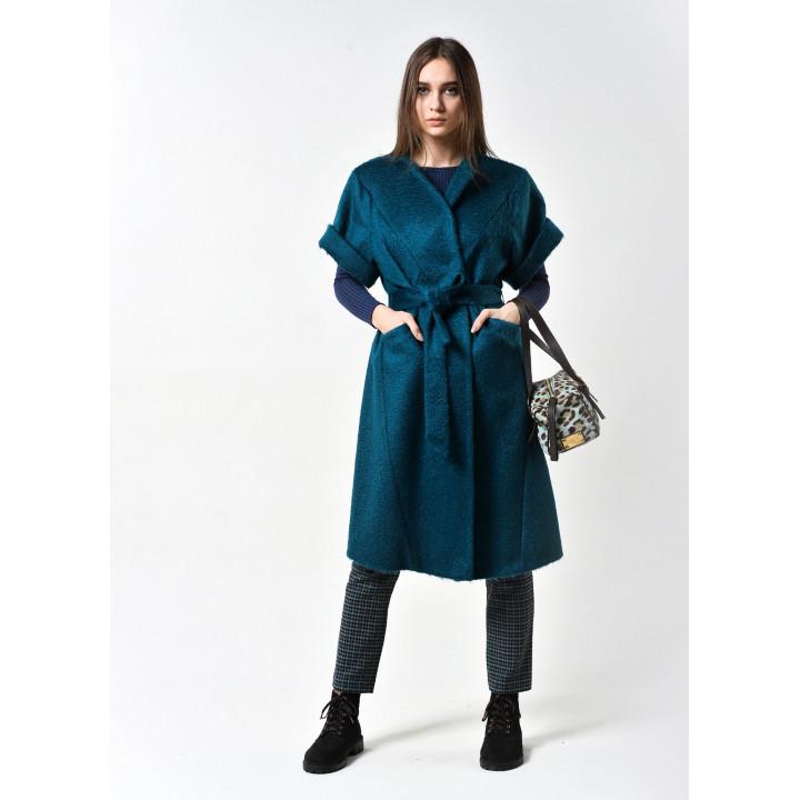 Пальто Мирабэлла цвета морской волны