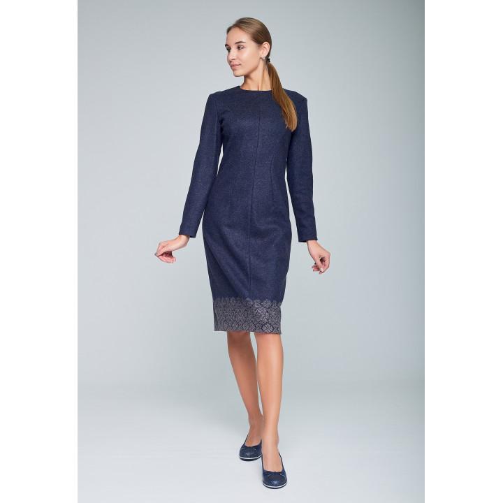 Платье «Инна» синего цвета