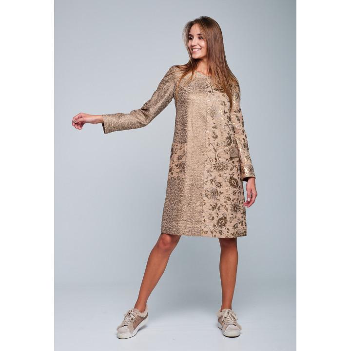 Платье «Мей» золотистого цвета