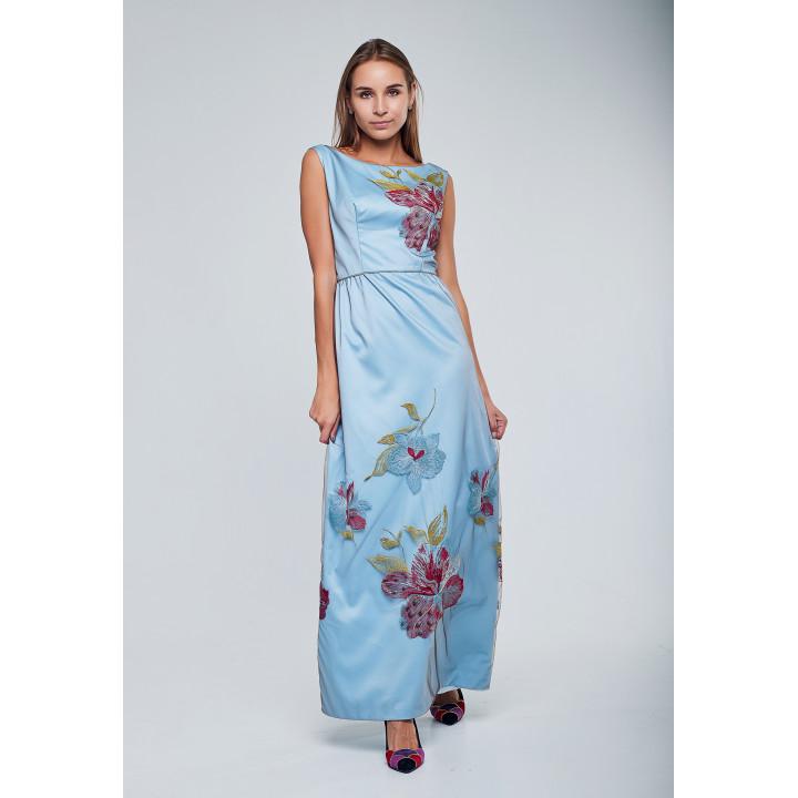 "Платье ""Жанна"" голубого цвета"