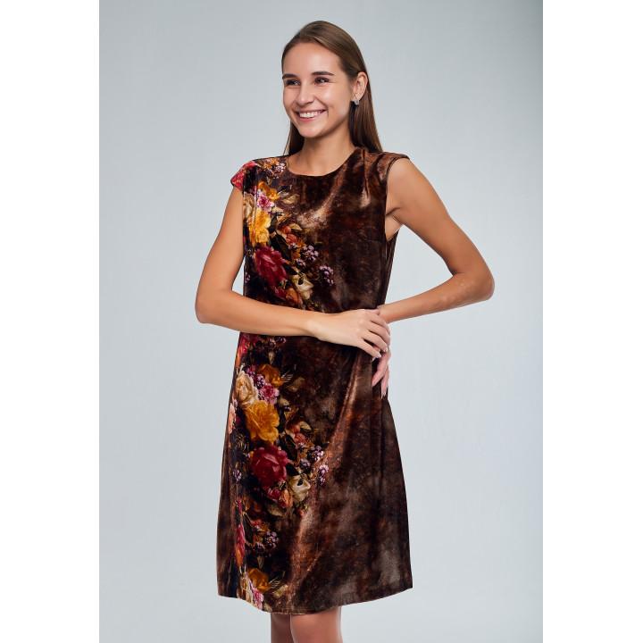 Платье «Модена» шоколадного цвета