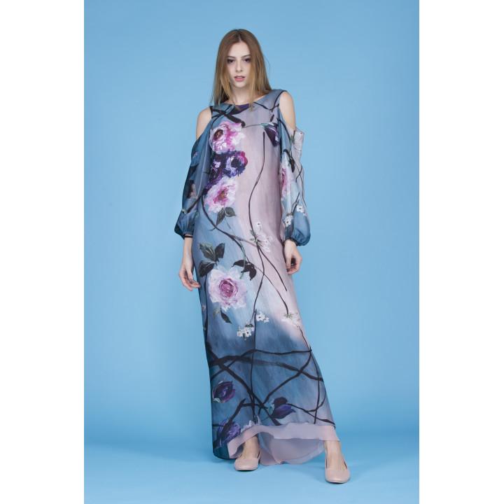Платье «Адель» авторского принта