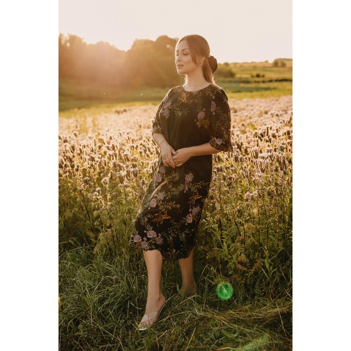 Платье «Кадди-1»  эксклюзивная вышивка