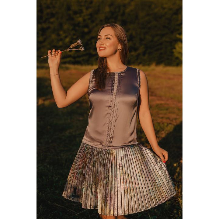 Платье «Старла» шоколадного цвета