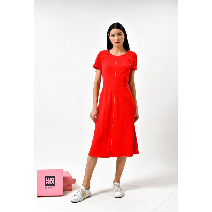 Платье «Мадлен-1» красного цвета