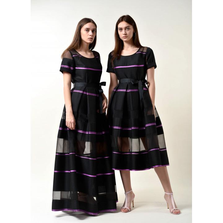 Платье «Валери» черного цвета
