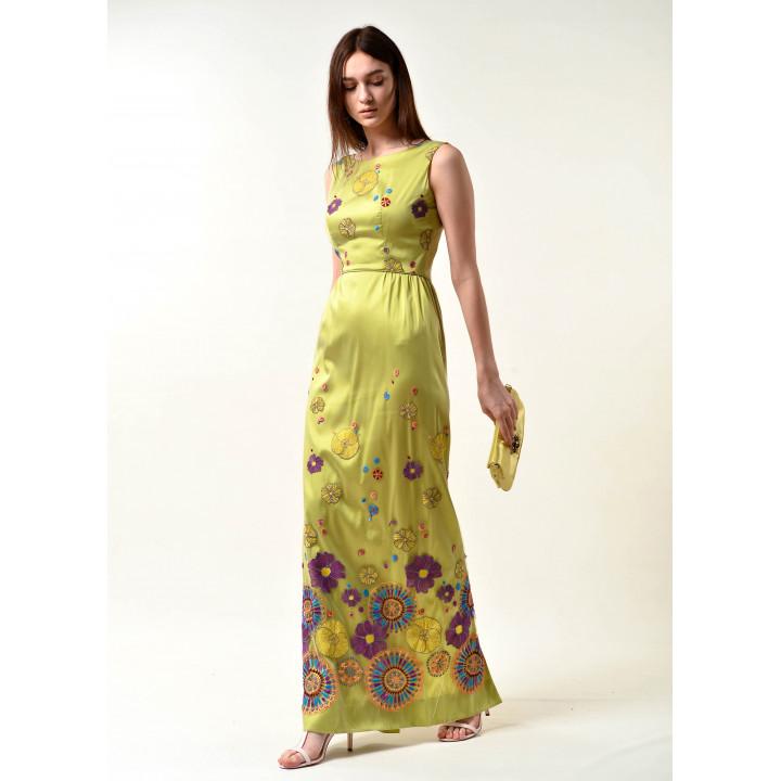 "Платье ""Жанна"" салатового цвета"