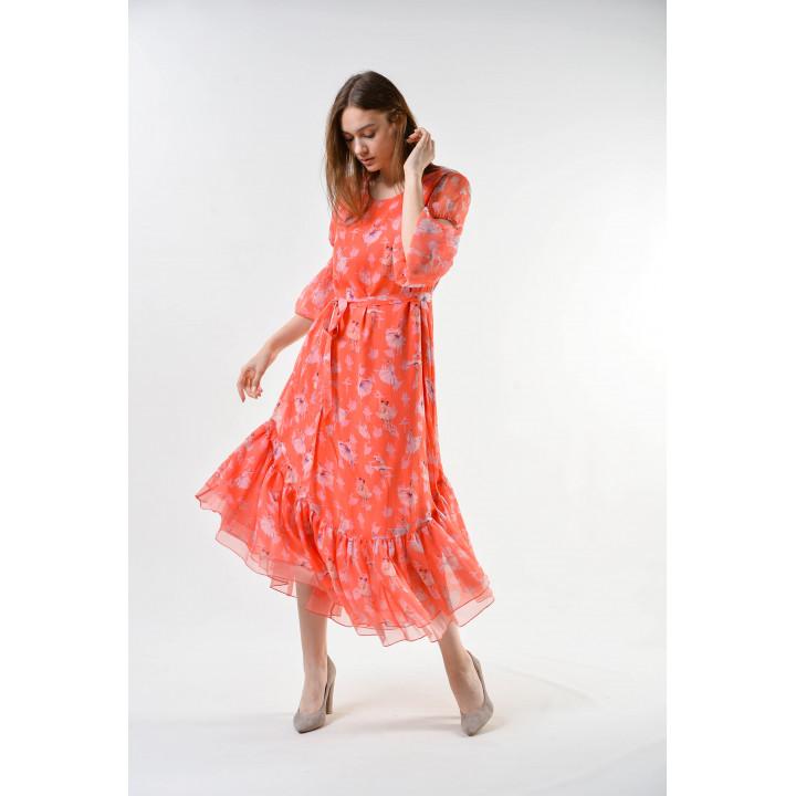 Платье «Долли» персикового цвета